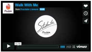 WALK with ME Proclaim Students 2015 video and information